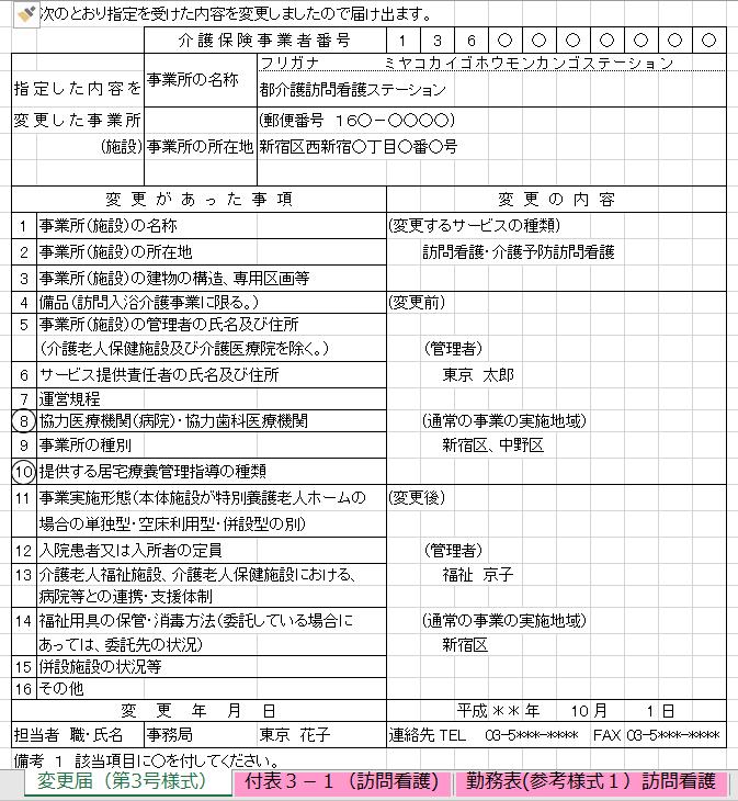 行政対応 変更届 チェックリスト
