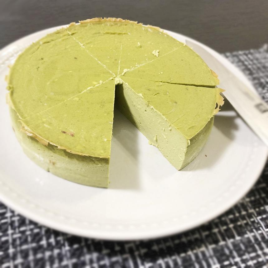 豆腐抹茶チーズケーキ